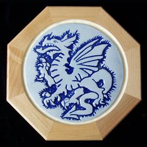 Trivet_Dragon_Blue